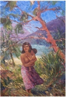 Tahitian Mother and Child